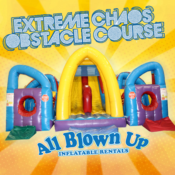 extreme chaos obstacle course, obstacle course, obstacle, inflatable obstacle course, inflatable obstacle