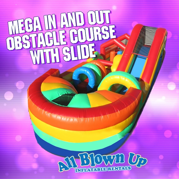 Mega In and Out Obstacle Course with Slide