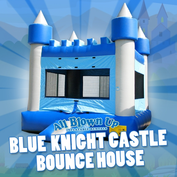 Blue Knight Castle Bounce House