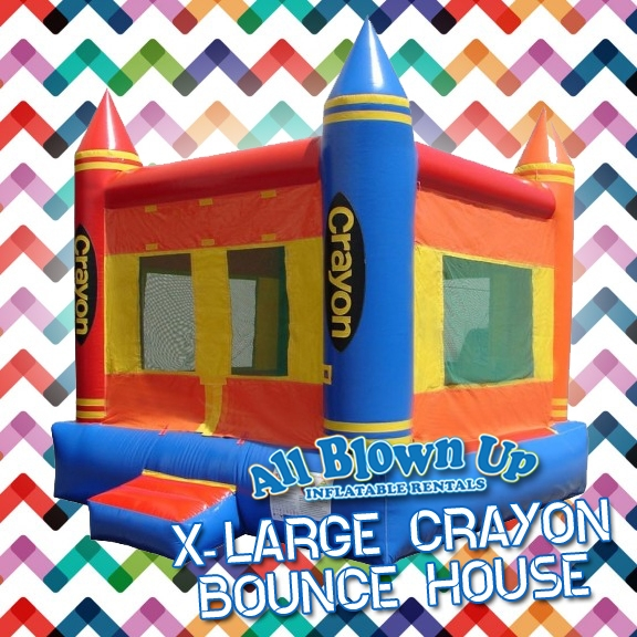 Evansville, IN and Owensboro, KY area kids birthday party X Large Crayon Bounce House