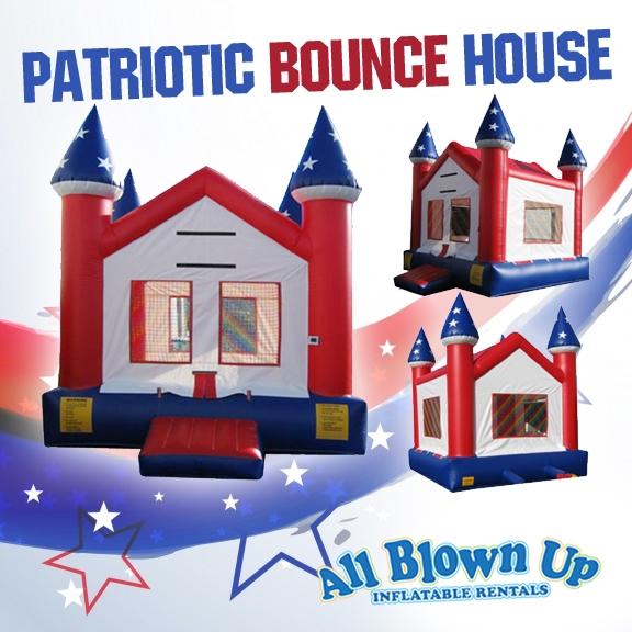 Patriotice Castle Bounce House