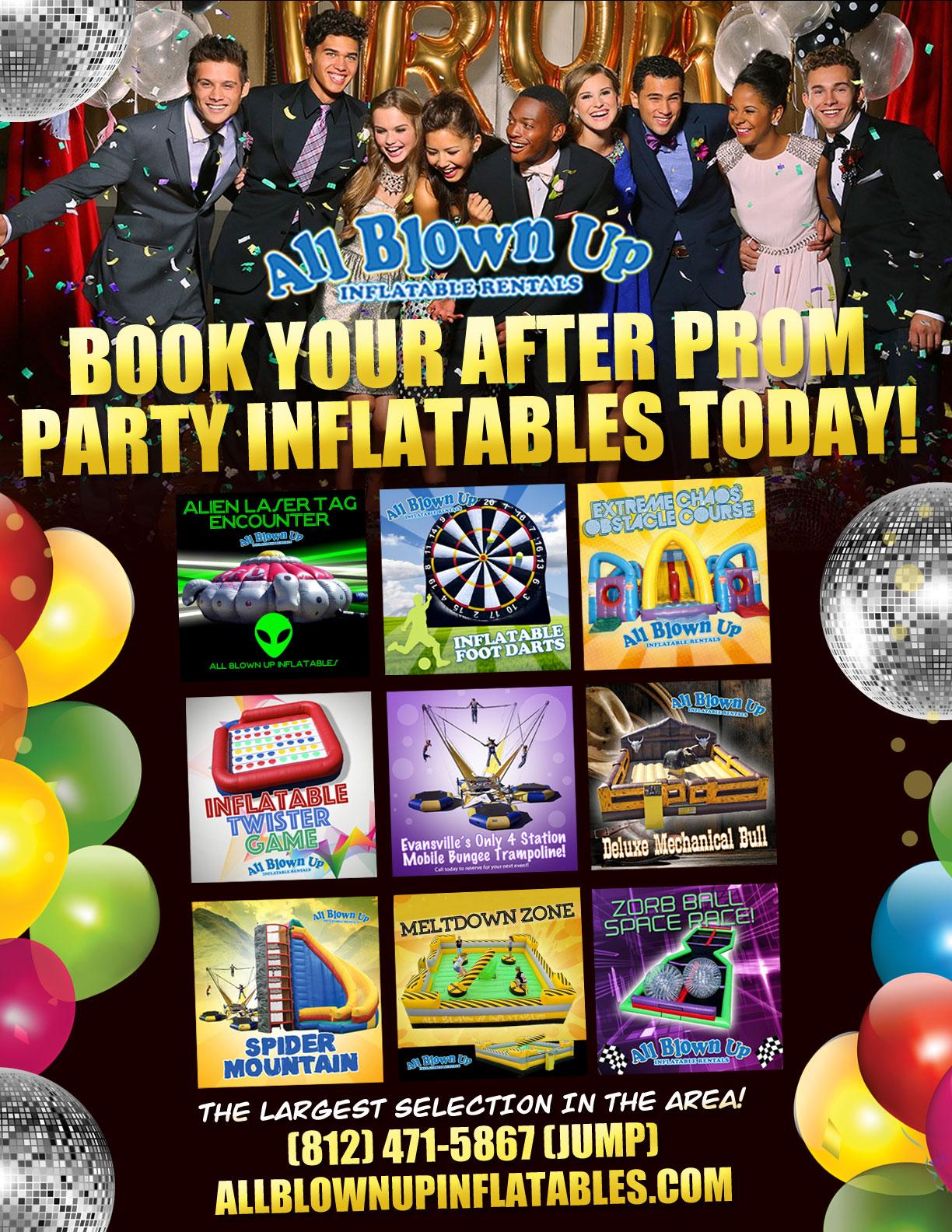 Evansville, Henderson, Owensboro, Newburgh Kids Birthday Party Inflatable Rentals