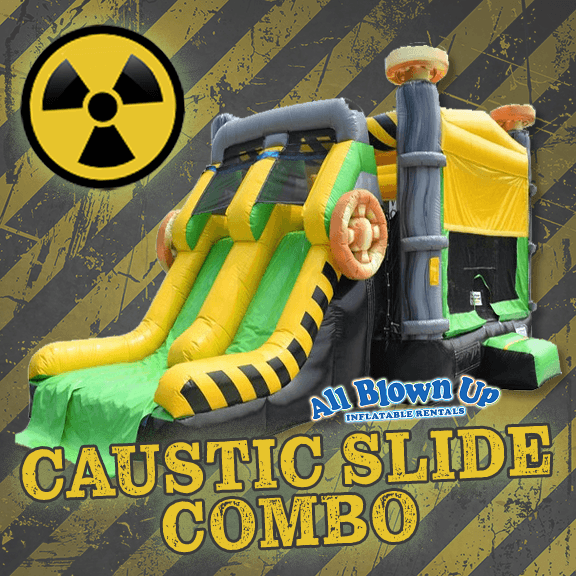 Caustic Slide Combo, Slide Combo, Radioactive, toxic, fun, hoops, slide, bounce