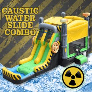 Caustic Water Slide Combo, Wet slide, slide combo, radioactive, toxic, summer fun, fun, wet fun