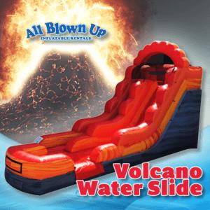 Volcano Water Slide, water slide, summer fun, wet fun, wet slide, sunshine fun