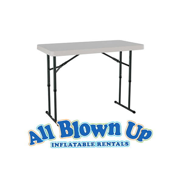 4 foot table, table, folding table