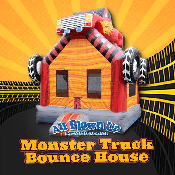 inflatable, brinka brinka, jump, castle, monster jam, 4x4