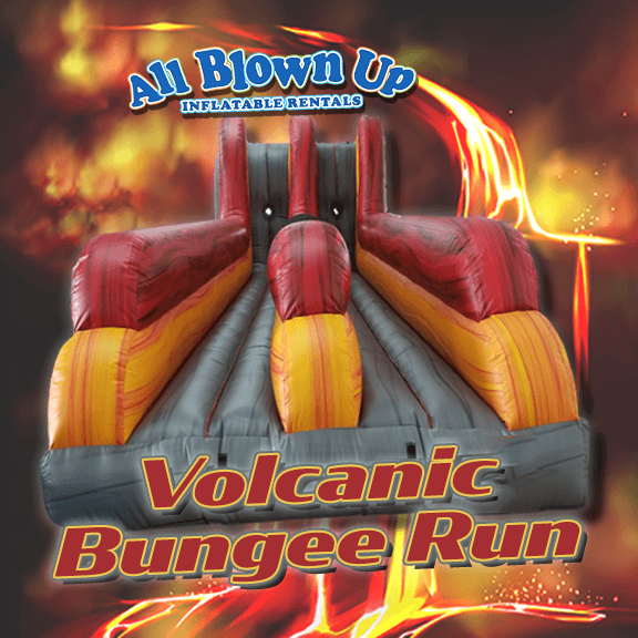 bungee run, volcanic bungee run, bungee, inflatable bungee run, fun, party, Evansville, Newburgh, Henderson, midwest