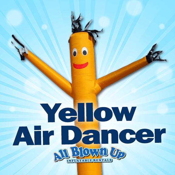 yellow air dancer, sky dancer