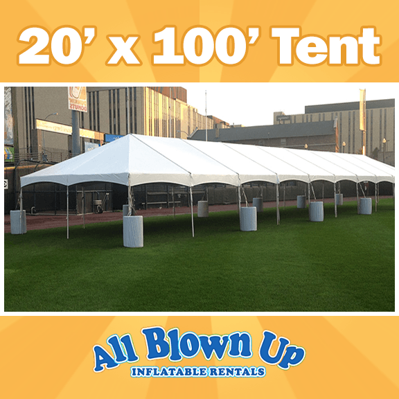 No center poles, tent rental, 20x100 tent