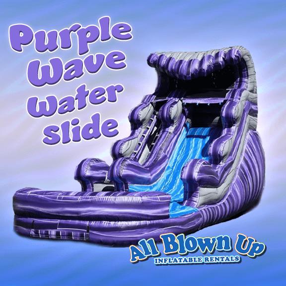 Purple Wave Water Slide, Water Slide, Purple Wave, Rent Water Slide, Water Slide Rental