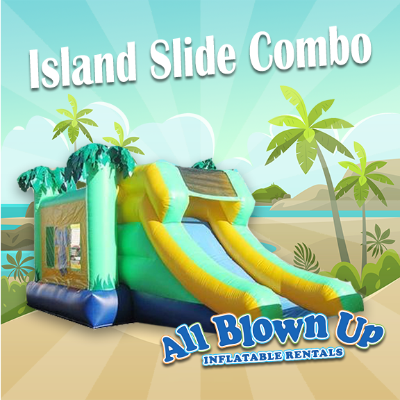 slide, water slide, water fun, backyard, party, brinka brinka, inflatable, tropical combo,