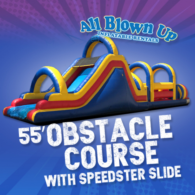 55' Obstacle Course with Speedster Slide