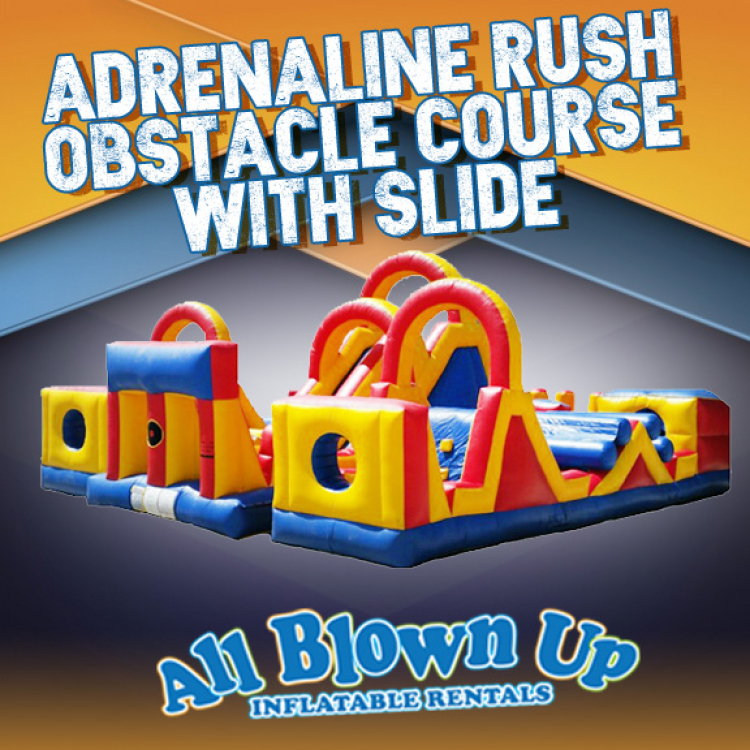 Adrenaline Rush Obstacle Course with Slide
