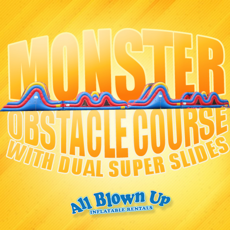 Monster Obstacle Course with Dual Super Slides