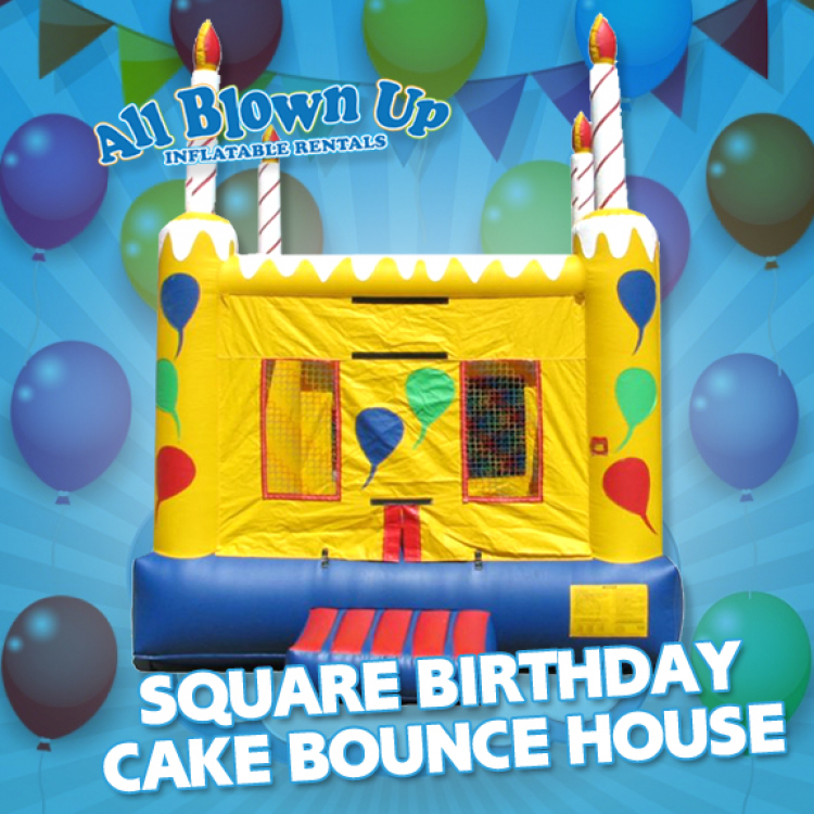 Square Birthday Cake Bounce House