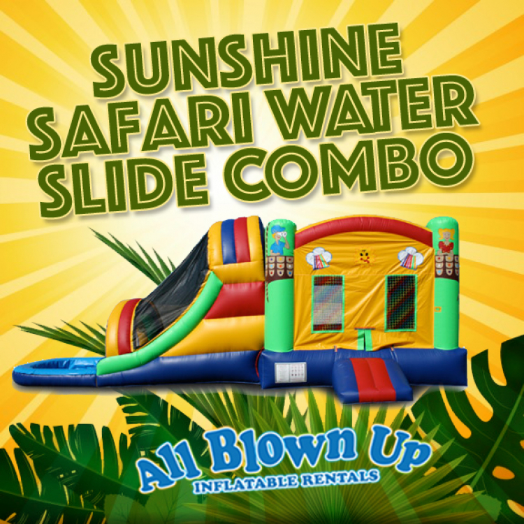 Sunshine Safari Water Slide Combo