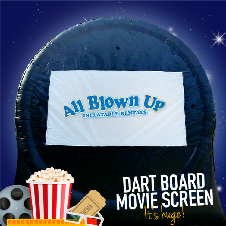 Dart Board Movie Screen & HD Projector