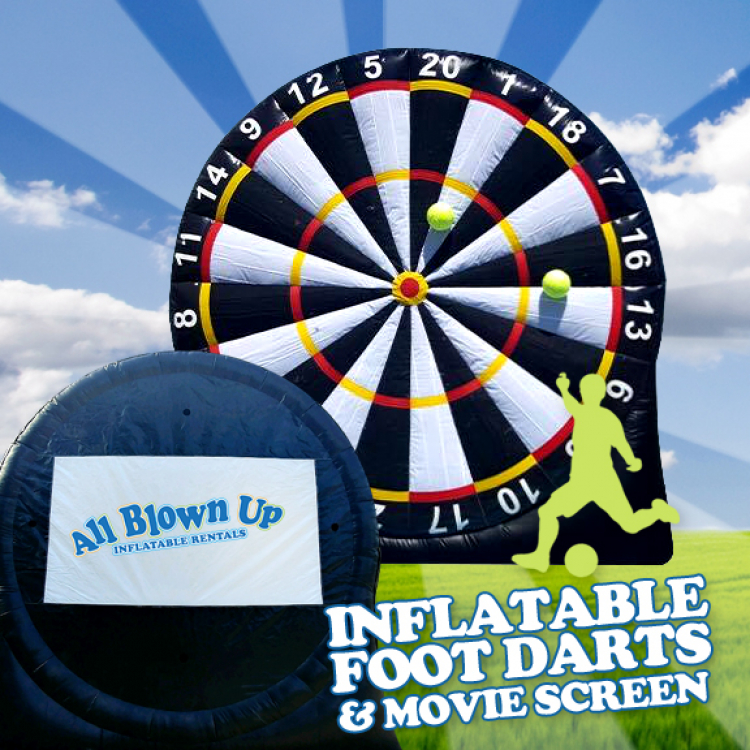 Inflatable Foot Darts & Movie Screen