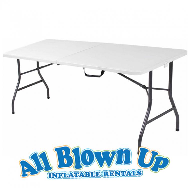 5' White Folding Table
