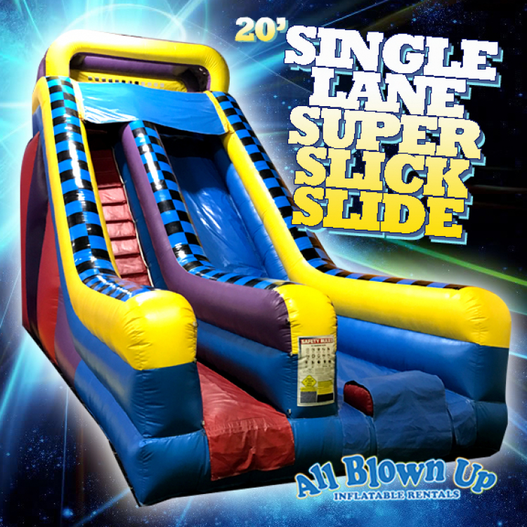 20' Single Lane Super Slick Slide