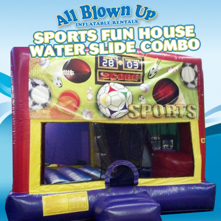 Sports Fun House Water Slide Combo