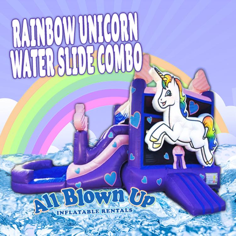 Rainbow Unicorn Water Slide Combo