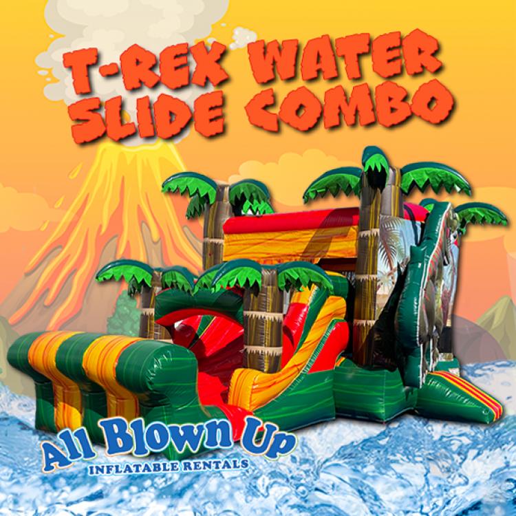 T-Rex Water Slide Combo
