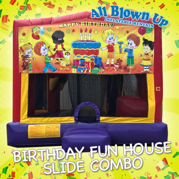 Birthday Fun House Slide Combo